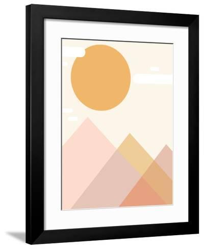 Mountain Range-Kindred Sol Collective-Framed Art Print