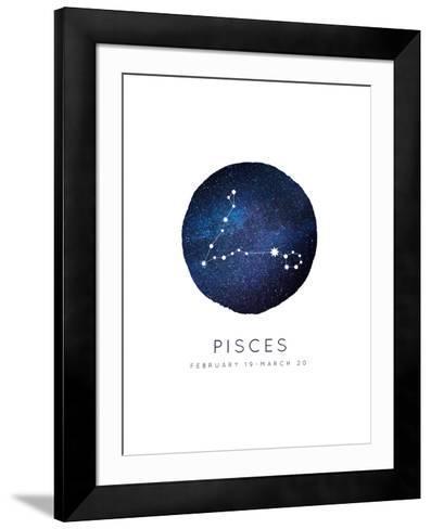 Pisces Zodiac Constellation-Rebecca Lane-Framed Art Print