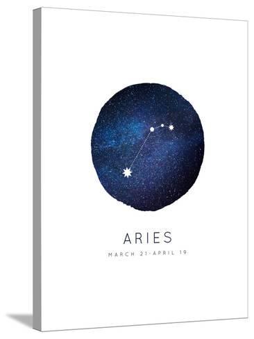 Aries Zodiac Constellation-Rebecca Lane-Stretched Canvas Print