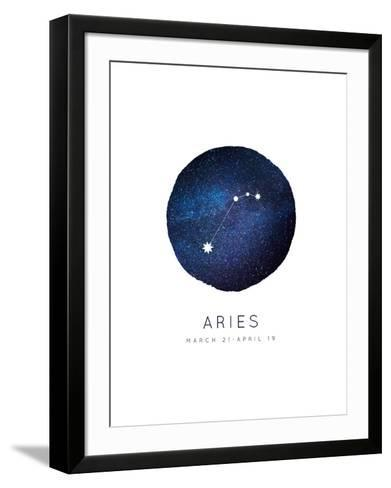 Aries Zodiac Constellation-Rebecca Lane-Framed Art Print
