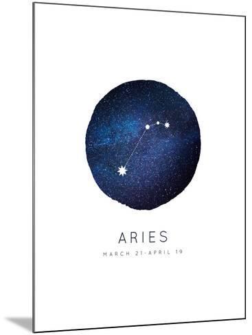 Aries Zodiac Constellation-Rebecca Lane-Mounted Art Print