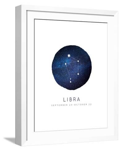 Libra Zodiac Constellation-Rebecca Lane-Framed Art Print