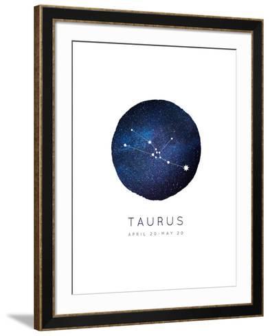 Taurus Zodiac Constellation-Rebecca Lane-Framed Art Print