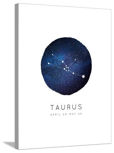 Taurus Zodiac Constellation-Rebecca Lane-Stretched Canvas Print