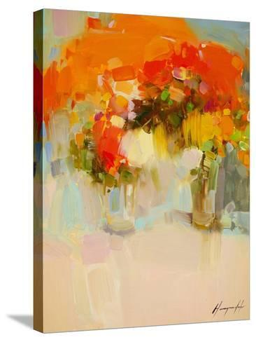 Vase of Yellow Flowers 2-Vahe Yeremyan-Stretched Canvas Print