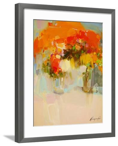 Vase of Yellow Flowers 2-Vahe Yeremyan-Framed Art Print