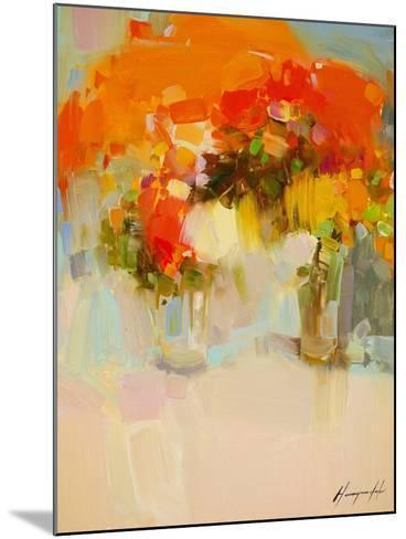 Vase of Yellow Flowers 2-Vahe Yeremyan-Mounted Art Print