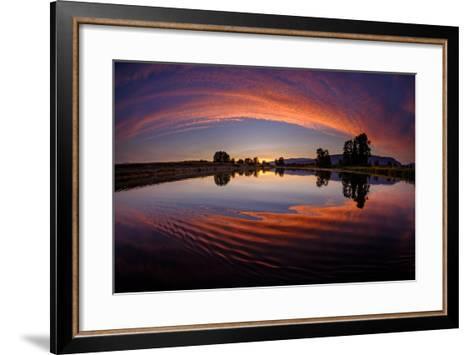 Canoe Sunset-Vladimir Kostka-Framed Art Print