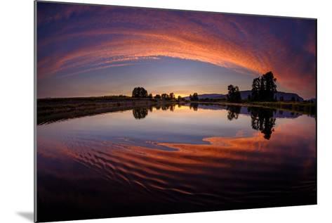 Canoe Sunset-Vladimir Kostka-Mounted Photographic Print