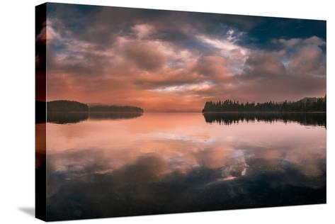 Western Sunset-Vladimir Kostka-Stretched Canvas Print