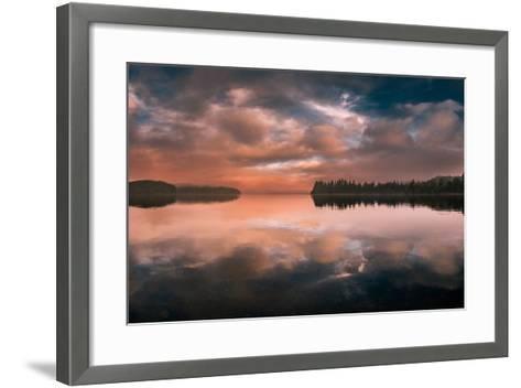 Western Sunset-Vladimir Kostka-Framed Art Print