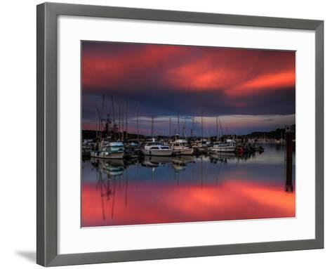 Ganges Harbor Sunset-Shawn/Corinne Severn-Framed Art Print