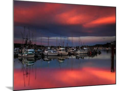 Ganges Harbor Sunset-Shawn/Corinne Severn-Mounted Photographic Print