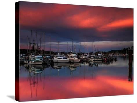 Ganges Harbor Sunset-Shawn/Corinne Severn-Stretched Canvas Print