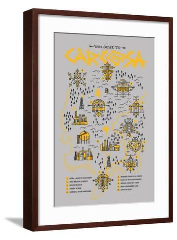 True Detective Map-Robert Farkas-Framed Art Print