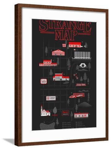 Strange Map-Robert Farkas-Framed Art Print