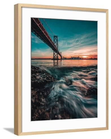 Down by the Water-Bruce Getty-Framed Art Print