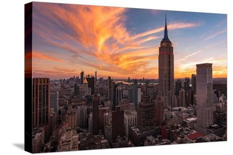 9-11 New York Sunset 2-Bruce Getty-Stretched Canvas Print
