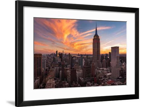 9-11 New York Sunset 2-Bruce Getty-Framed Art Print