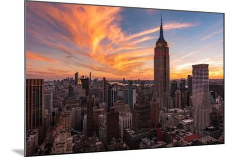 9-11 New York Sunset 2-Bruce Getty-Mounted Photographic Print