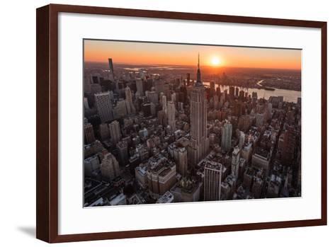 Empire Flight Sun Burst-Bruce Getty-Framed Art Print