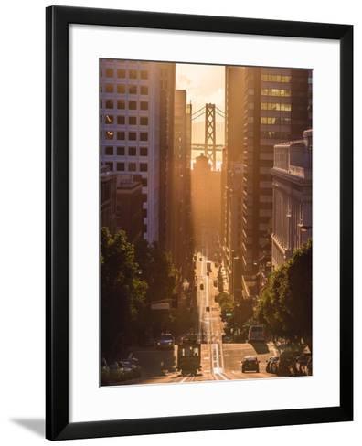 Morning Trolley 2-Bruce Getty-Framed Art Print