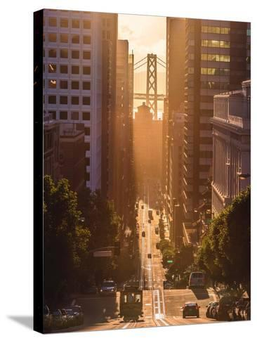 Morning Trolley 2-Bruce Getty-Stretched Canvas Print