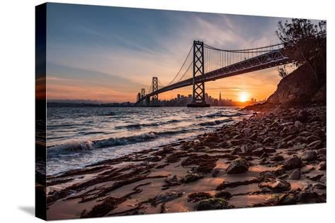Sunset from the Island 2-Bruce Getty-Stretched Canvas Print