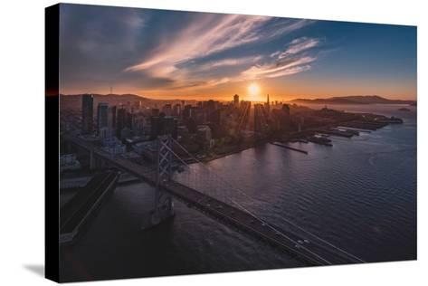 Sunset Explosion-Bruce Getty-Stretched Canvas Print