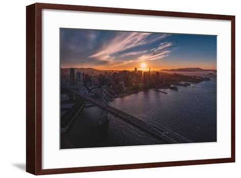 Sunset Explosion-Bruce Getty-Framed Art Print