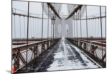 The Brooklyn Bridge-Bruce Getty-Mounted Photographic Print