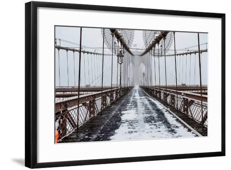 The Brooklyn Bridge-Bruce Getty-Framed Art Print
