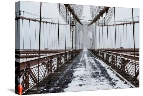 The Brooklyn Bridge-Bruce Getty-Stretched Canvas Print