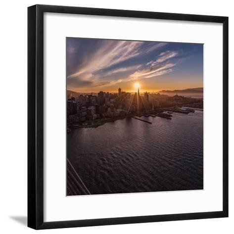 Sunset Explosion 2-Bruce Getty-Framed Art Print