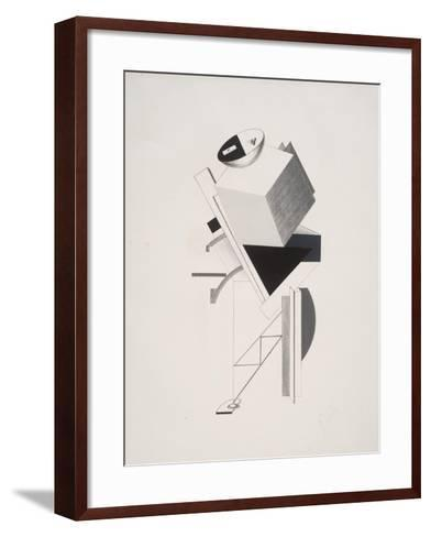 Victory Over the Sun, 3. Sentry-El Lissitzky-Framed Art Print