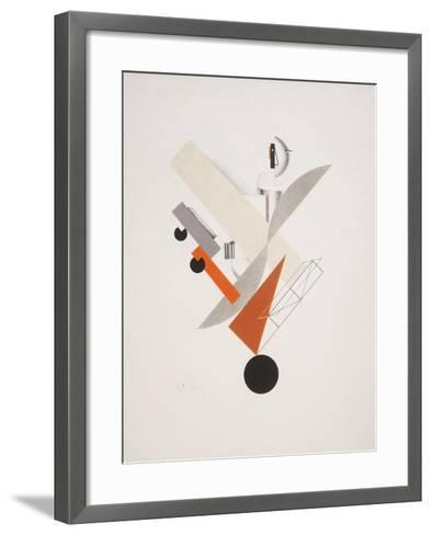 Victory Over the Sun, 5. Globetrotter (in Time)-El Lissitzky-Framed Art Print