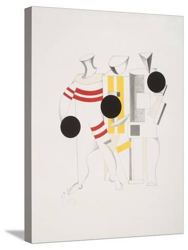 Victory Over the Sun, 6. Sportsmen-El Lissitzky-Stretched Canvas Print