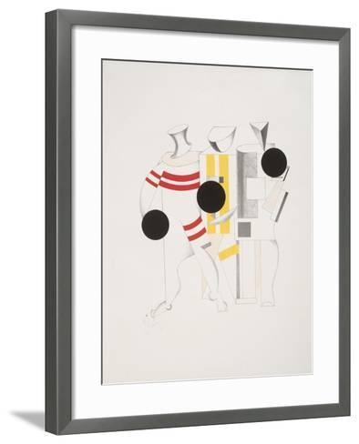 Victory Over the Sun, 6. Sportsmen-El Lissitzky-Framed Art Print