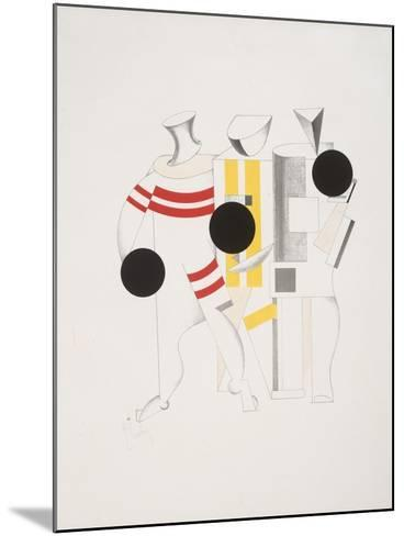 Victory Over the Sun, 6. Sportsmen-El Lissitzky-Mounted Giclee Print