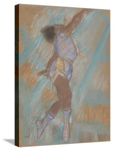 Miss Lala at the Cirque Fernando-Edgar Degas-Stretched Canvas Print