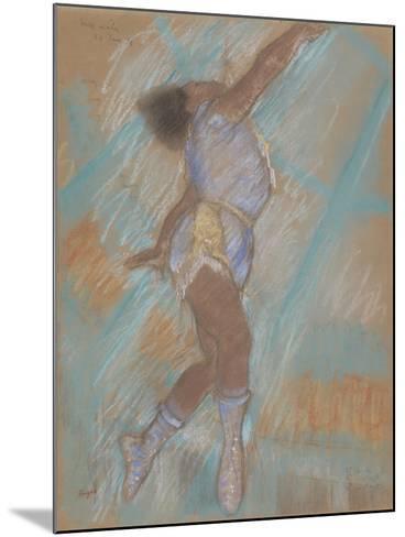 Miss Lala at the Cirque Fernando-Edgar Degas-Mounted Giclee Print