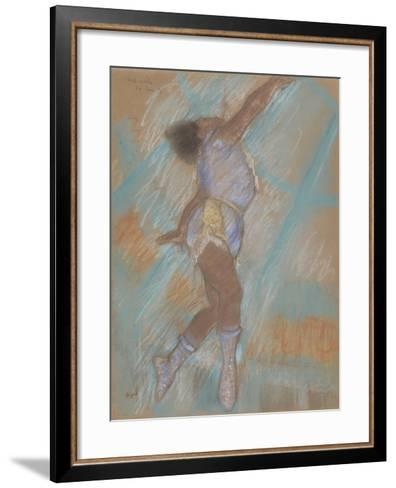 Miss Lala at the Cirque Fernando-Edgar Degas-Framed Art Print