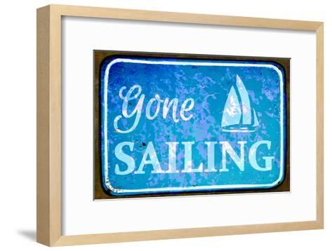 Gone Sailing-Cora Niele-Framed Art Print