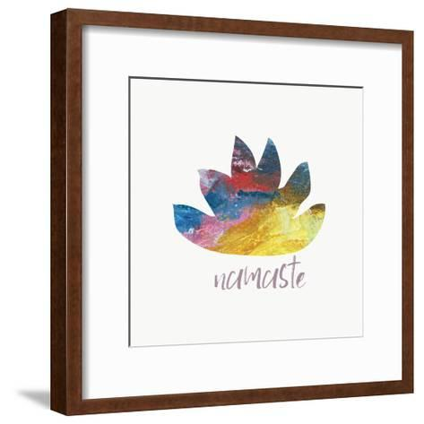 Namaste Lotus-Pamela J.-Framed Art Print