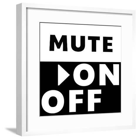 Mute On / Off-Linda Woods-Framed Art Print