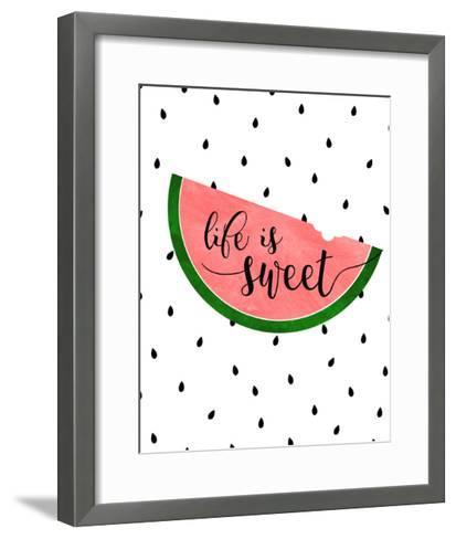 Life is Sweet - Watermelon-Anna Quach-Framed Art Print