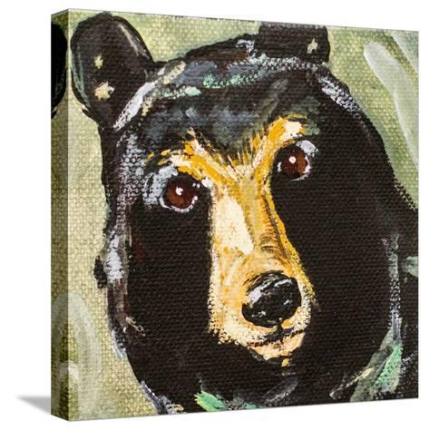 Black Bear-Molly Susan-Stretched Canvas Print