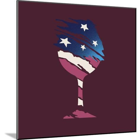 Flag Glass-Jim Baldwin-Mounted Art Print