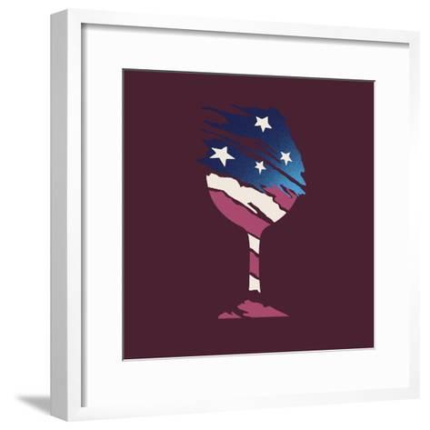 Flag Glass-Jim Baldwin-Framed Art Print
