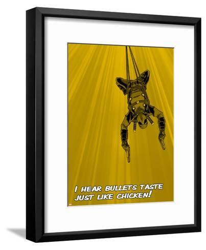 Deadpool - Bullets Taste like Chicken!--Framed Art Print